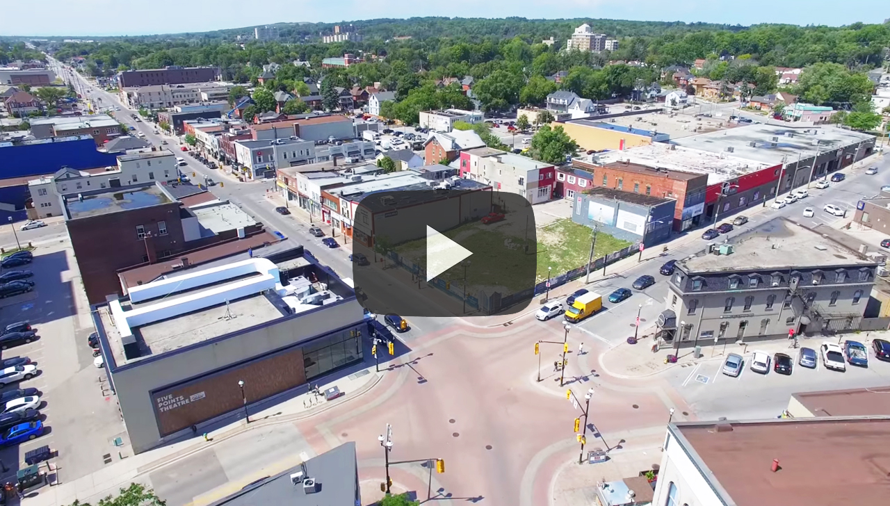 Downtown Barrie Aerial Video